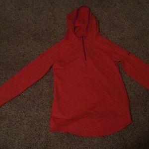 Nike pro zip up sweatshirt